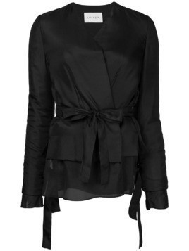 Ms Min layered belt jacket - Black