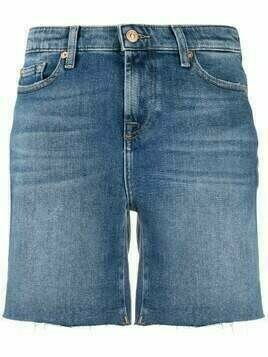 7 For All Mankind high rise denim shorts - Blue
