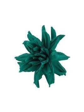 Erika Cavallini large flower brooche - Green