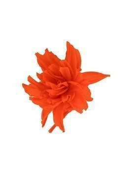 Erika Cavallini large flower brooche - Red