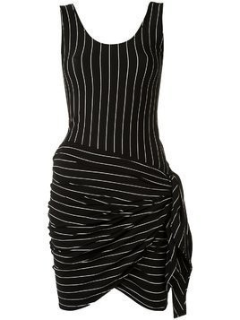 Amir Slama striped beach dress - Black