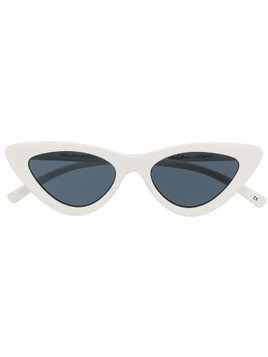 Le Specs x Adam Selman Las cat eye sunglasses - White