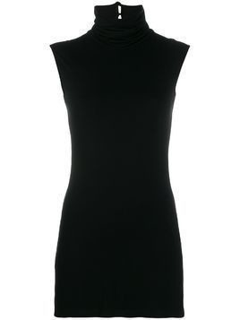 Styland turtle neck tank top - Black