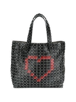 Red Valentino hearts and studs tote - Black