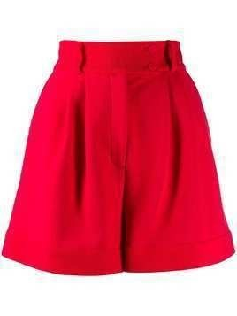 Styland flared pleated shorts