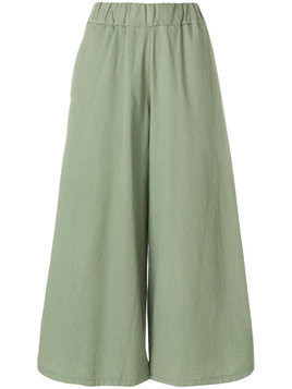 Labo Art wide leg cropped pants - Green