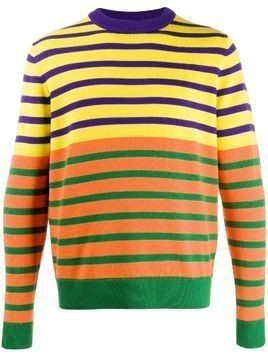Acne Studios x Jacob Dahlgren colour-block striped jumper - Yellow