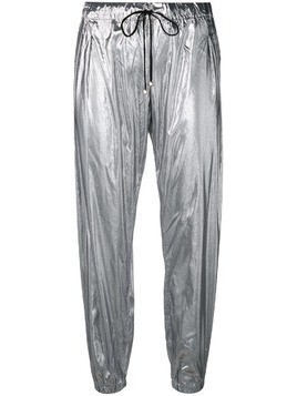 Coup De Coeur metallic jogging trousers - Silver