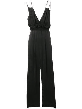 Kendall+Kylie rucked V-neck jumpsuit - Black