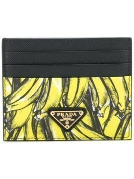 Prada banana print cardholder - Yellow & Orange