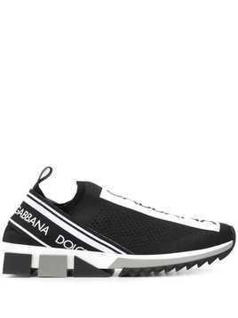 Dolce & Gabbana Sorrento slip-on logo sneakers - Black