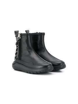 Hogan Kids side zip boots - Black