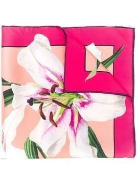 Dolce & Gabbana lily print scarf - Pink