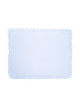 Siola embroidered detail blanket - Blue