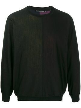 Issey Miyake Men long-sleeve fitted sweater - Black