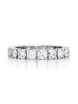 De Beers Platinum DB Classic Full Eternity diamond 3mm band