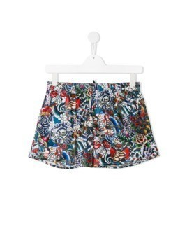 Dsquared2 Kids printed swim shorts - Black