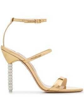 Sophia Webster Gold Rosalind Crystal 100 Sandals - Metallic