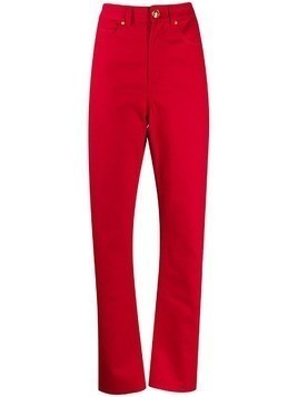 Escada high-rise straight jeans - Red