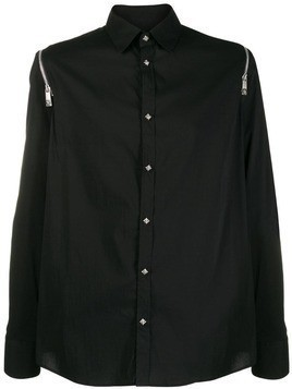 John Richmond zip sleeve shirt - Black