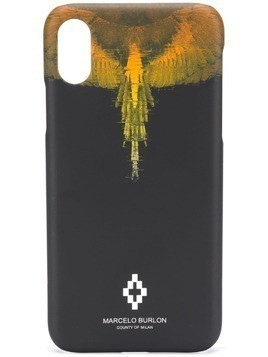 Marcelo Burlon County Of Milan printed iPhone X case - Black
