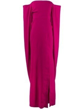 Tom Ford off-the-shoulder draped gown - Pink