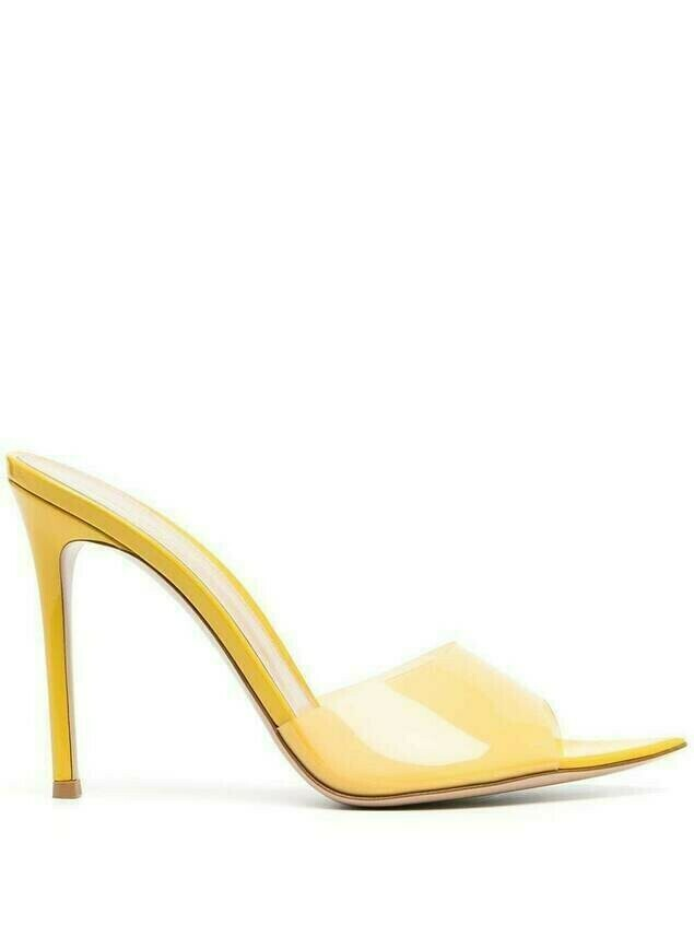 Gianvito Rossi Elle soft plexi mules - Yellow
