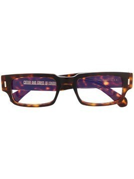 Cutler & Gross rectangular frame glasses - Brown