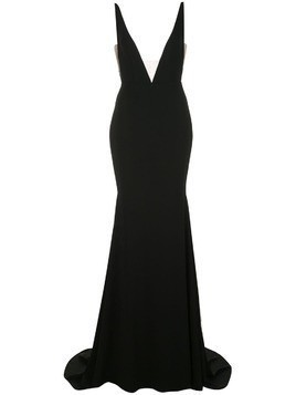 Alex Perry plunge gown - Black