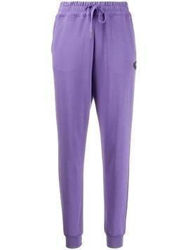 Vivienne Westwood Anglomania embroidered logo track pants - PURPLE