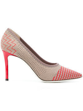 Pollini multi-pattern stiletto pumps - Nude & Neutrals