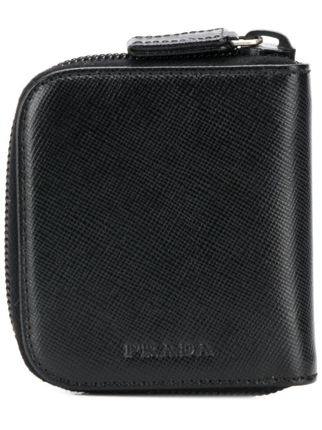 Prada half zipped wallet - Black
