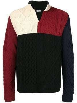 Coohem aran patchwork knit jumper - Multicolour