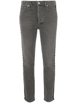 Citizens Of Humanity Olivia high-rise cropped jeans - Black