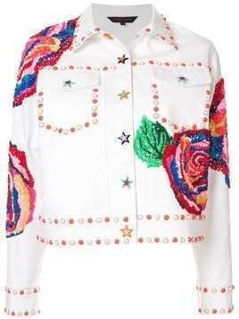 Manish Arora embellished denim jacket - White