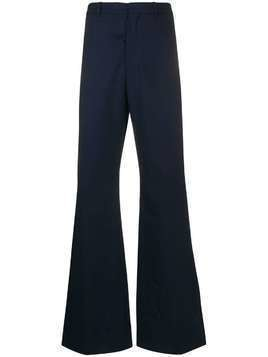 Martine Rose double flare tailored trousers - Blue