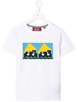 Mostly Heard Rarely Seen 8-Bit Yellow Hats 8-bit T-shirt - White