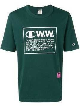 Champion X Wood Wood logo print T-shirt - Green