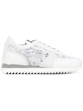Le Silla lace panel trainers - White