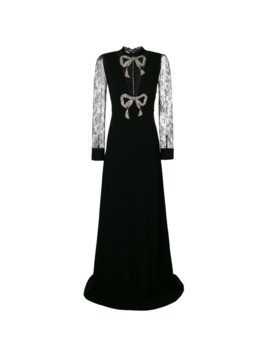 Gucci crystal bow dress - Black