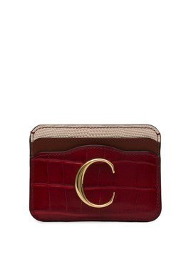 Chloé croc-effect cardholder - Red