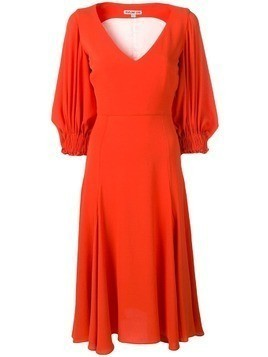 Edeline Lee balloon sleeve dress - Orange