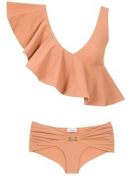 Amir Slama ruffled top bikini set - Neutrals