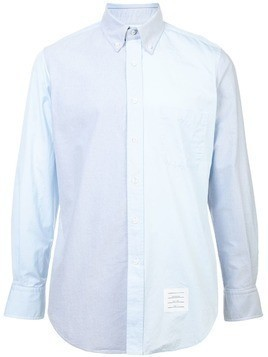 Thom Browne two-tone button down shirt - Blue