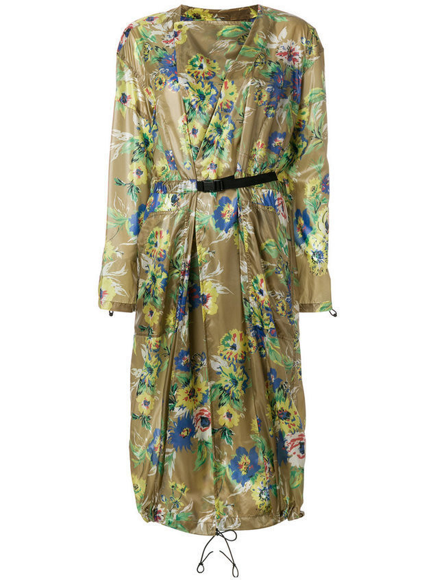 Toga Pulla - floral print trench coat - Damen - Nylon - 38 - Multicolour