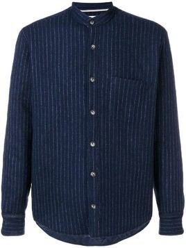 Al Duca D'Aosta 1902 pinstripe band collar shirt - Blue