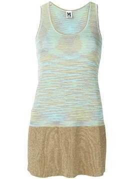 M Missoni long sleeveless tank top - Blue
