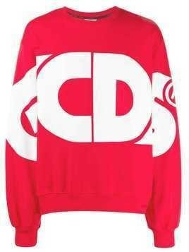 Gcds logo print sweatshirt - Red