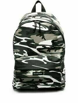 Balenciaga camouflage Explorer backpack - Grey
