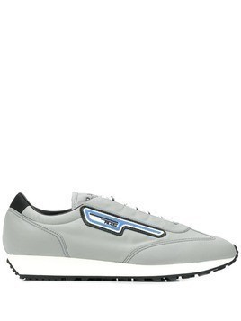 Prada logo patch low-top sneakers - Grey